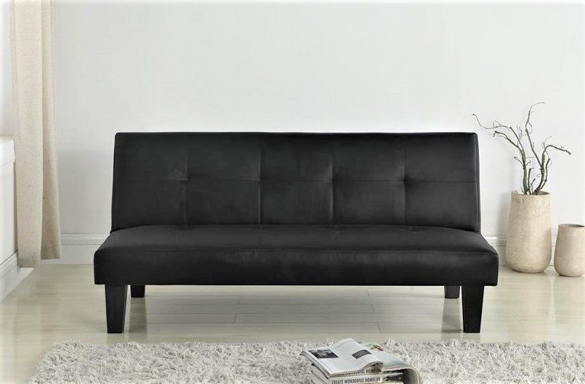 Franklin Black Faux Leather | Sofa Beds & Futons at Elephant ...
