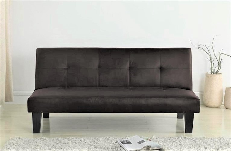 Franklin Brown Faux Leather Sofa Beds Futons At Elephant Beds