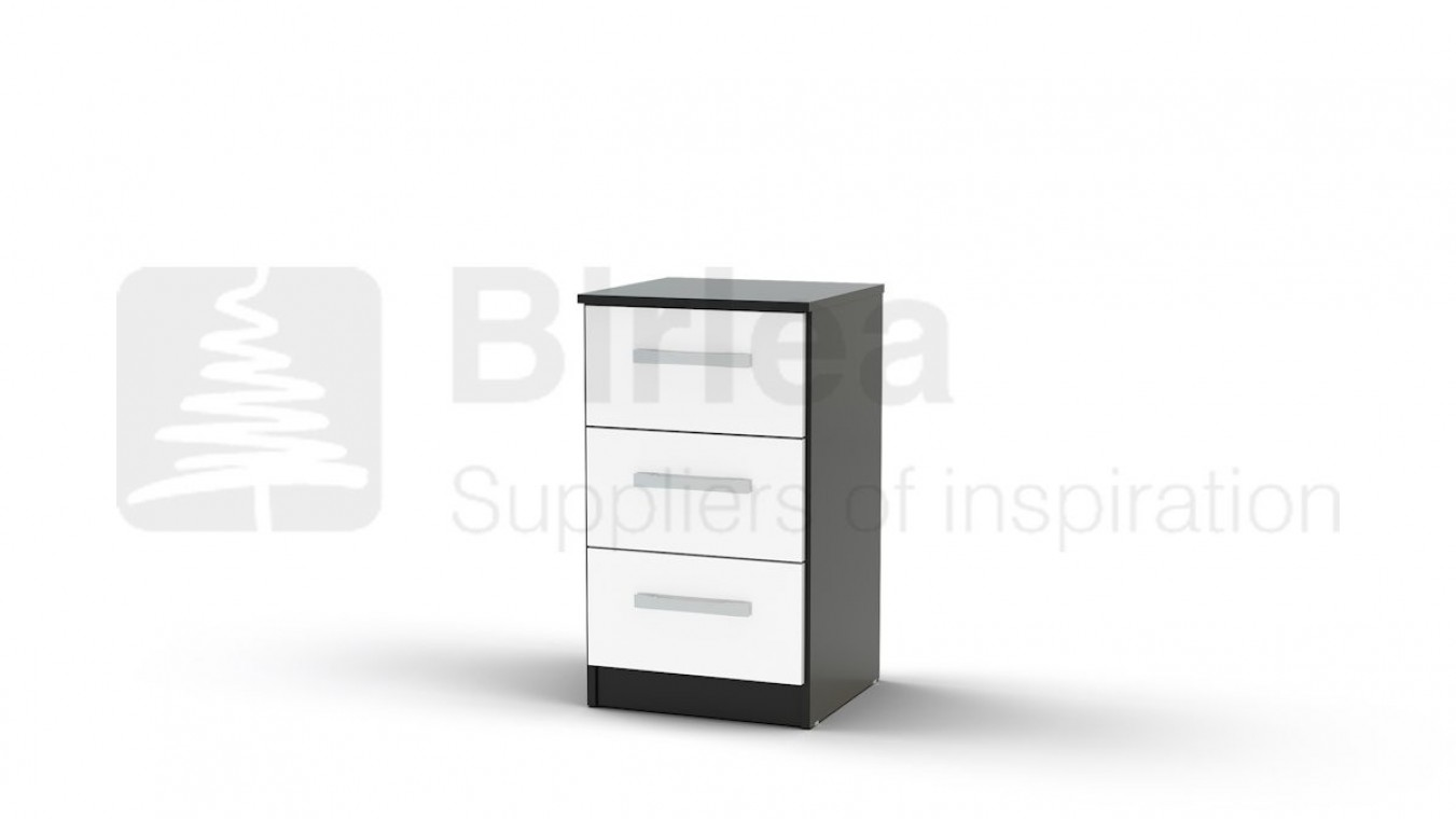 lynx 3 drawer bedside black and white bedside tables at elephant