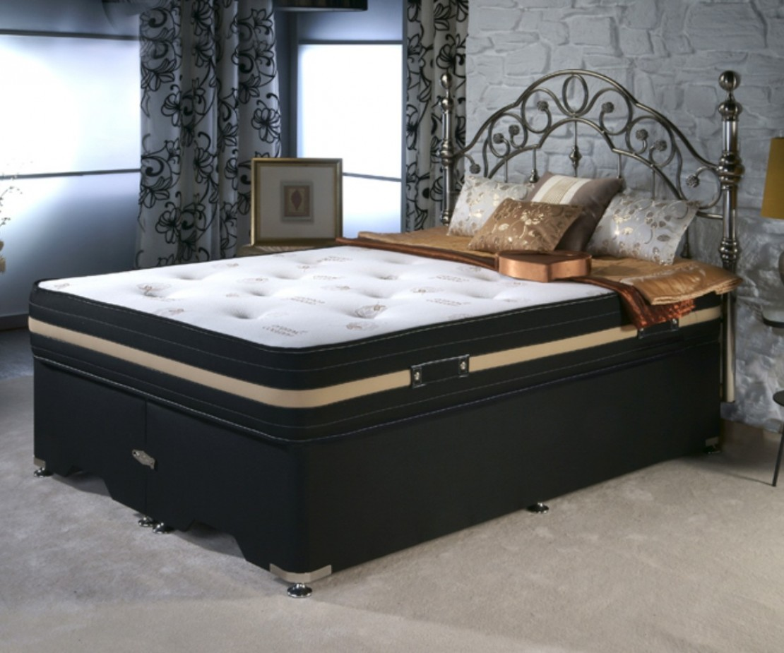 Organic cotton divan set open coil divans at elephant for King size divan bed without mattress