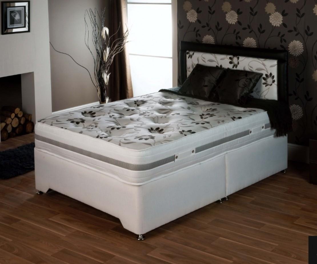 Spring blossom divan set pocket sprung divans at for Single divan bed with pocket sprung mattress