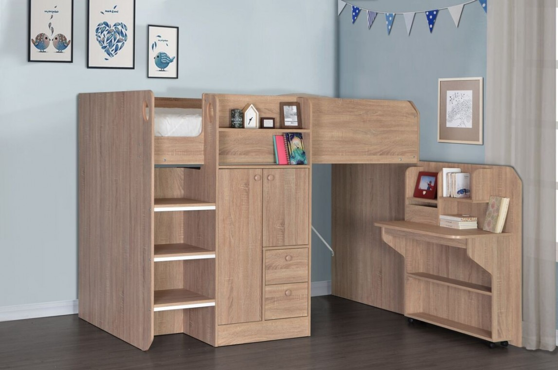 Taylor Oak Cabin Beds At Elephant Beds Cardiff Uk Bedroom Furniture